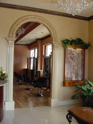 Customized molding in a doorway of a home in Houston, TX